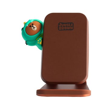 SmarTone Online Store Line Friends Fast Wireless Charging Stand (Dino Brown)
