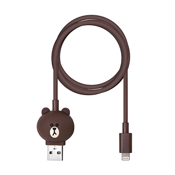 SmarTone Online Store Line Friends Lightning Cable (Brown)