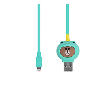 SmarTone Online Store Line Friends Lightning Cable (Dino Brown)