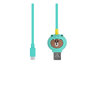 SmarTone Online Store Line Friends Type-C Cable (Dino Brown)