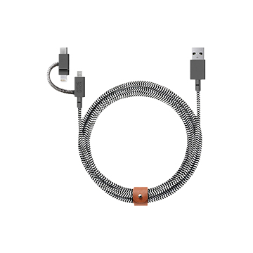 SmarTone Online Store Native Union 3 合1 Belt Cable (Lightning, USB-C and Micro-USB)  2米