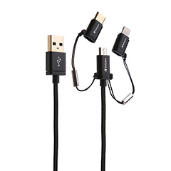 SmarTone Online Store Verbatim 120cm Sync & Charge 3合1  Lighting Type C And Micro Usb 連接線