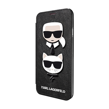 SmarTone Online Store KARL LAGERFELD Karl and Choupette Embossed Booktype Case for iPhone - 5.8 Inch Screen