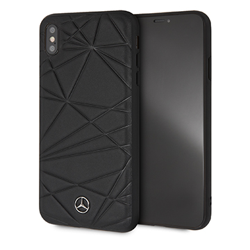 SmarTone Online Store Mercedes Benz Genuine Leather Hard Case for iPhone XS Max (Twister)