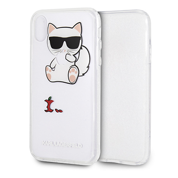 SmarTone Online Store KARL LAGERFELD Choupette Fun Eaten Apple Case for iPhone XR