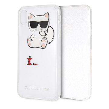 SmarTone Online Store KARL LAGERFELD Choupette Fun Eaten Apple Case for iPhone XS Max