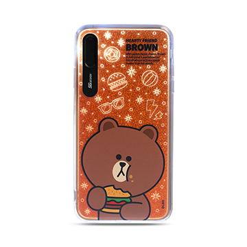 SmarTone Online Store SG Design Line Friends Glitter Case for iPhone XS Max (Brown)