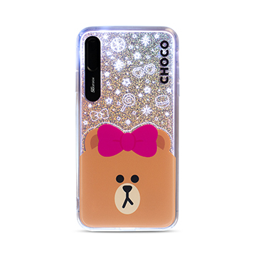SmarTone Online Store SG Design Line Friends Glitter Case for iPhone XS Max (Choco)
