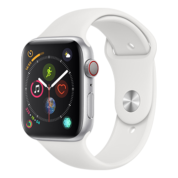 SmarTone Online Store Apple Watch Series 4 (44mm)(GPS + Cellular) Silver Aluminum Case with White Sport Band