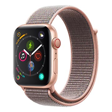 SmarTone Online Store Apple Watch Series 4 (44mm)(GPS + Cellular) Gold Aluminum Case with Pink Sand Sport Loop