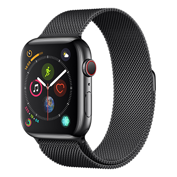 SmarTone Online Store Apple Watch Series 4 (44mm)(GPS + Cellular) Space Black Stainless Steel Case with Space Black Milanese Loop