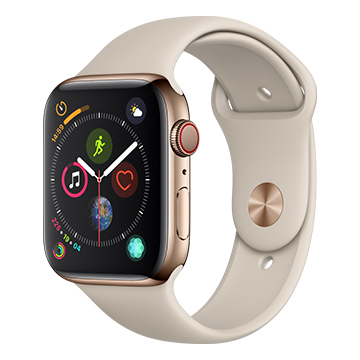 SmarTone Online Store Apple Watch Series 4 (44mm)(GPS + Cellular) Gold Stainless Steel Case with Stone Sport Band
