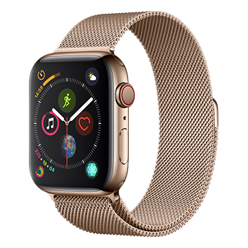 SmarTone Online Store Apple Watch Series 4 (44mm)(GPS + Cellular) Gold Stainless Steel Case with Gold Milanese Loop