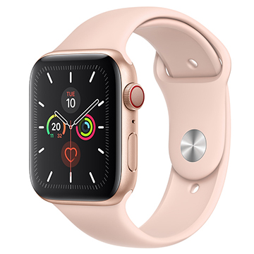 SmarTone Online Store Apple Watch Series 5 (GPS + Cellular) (44mm) Gold Aluminium Case with  Pink Sand Sport Band
