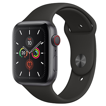 SmarTone Online Store Apple Watch Series 5 (GPS + Cellular) (44mm) Space Gray Aluminium Case with Black Sport Band