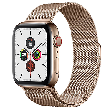 SmarTone Online Store Apple Watch Series 5 (GPS + Cellular) (44mm) Gold Stainless Steel Case with Gold Milanese Loop