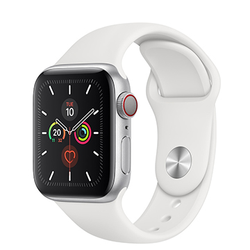 SmarTone Online Store Apple Watch Series 5 (GPS + Cellular) (40mm) Silver Aluminium Case with White Sport Band