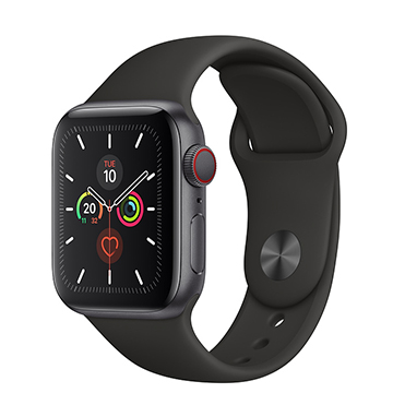 SmarTone Online Store Apple Watch Series 5 (GPS + Cellular) (40mm) Space Gray Aluminium Case with Black Sport Band