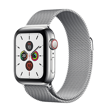 SmarTone Online Store Apple Watch Series 5 (GPS + Cellular) (40mm) Stainless Steel Case with Stainless Steel Milanese Loop