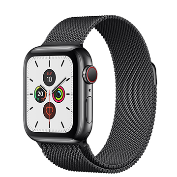 SmarTone Online Store Apple Watch Series 5 (GPS + Cellular) (40mm) Black Stainless Steel Case with Black Milanese Loop