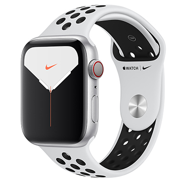 SmarTone Online Store Apple Watch Series 5 (GPS + Cellular) (44mm) Silver Aluminium Case with Pure Platinum/Black Nike Sport Band