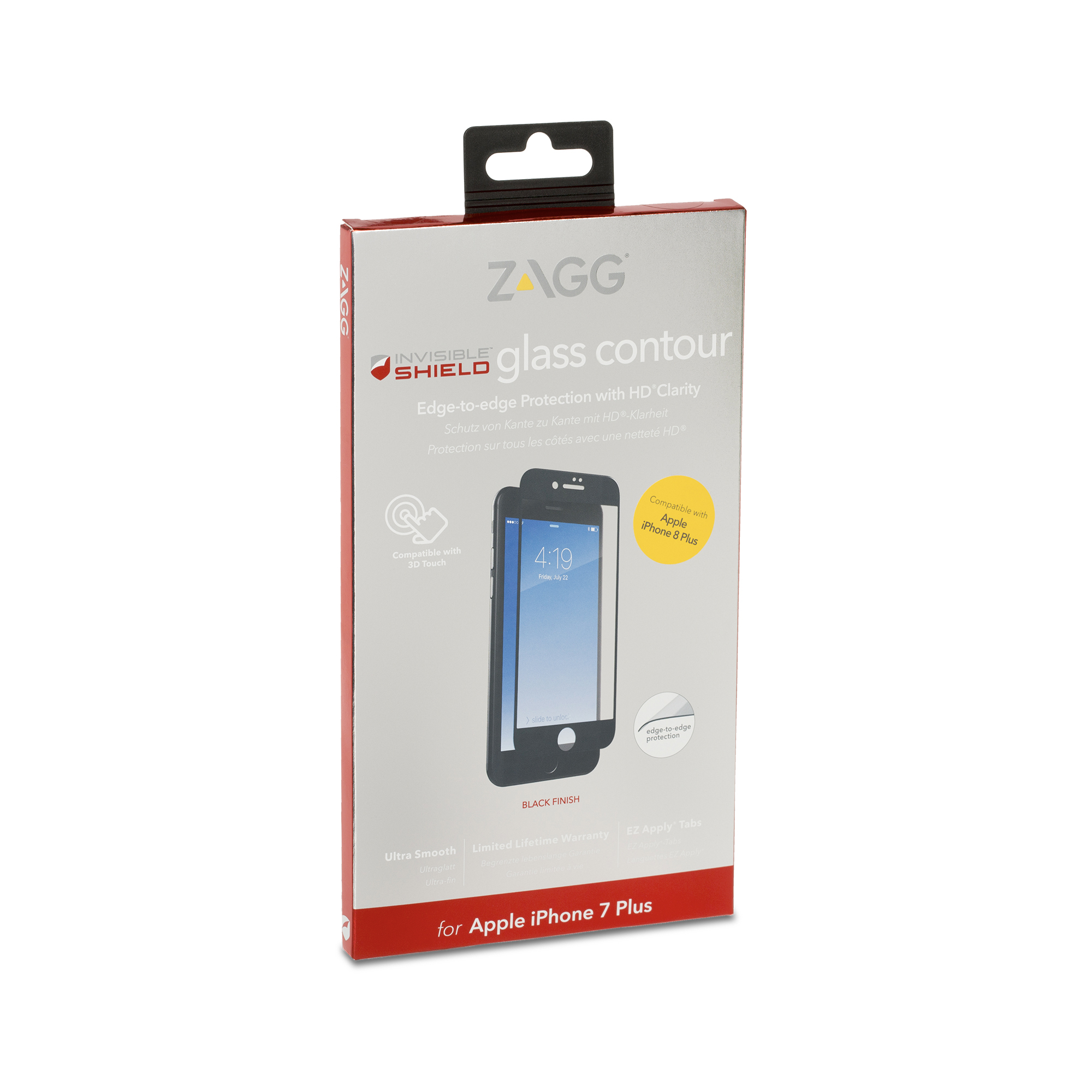 sports shoes 38068 d905b ZAGG InvisibleShield Glass Contour iPhone 8 Plus Screen Protector ...