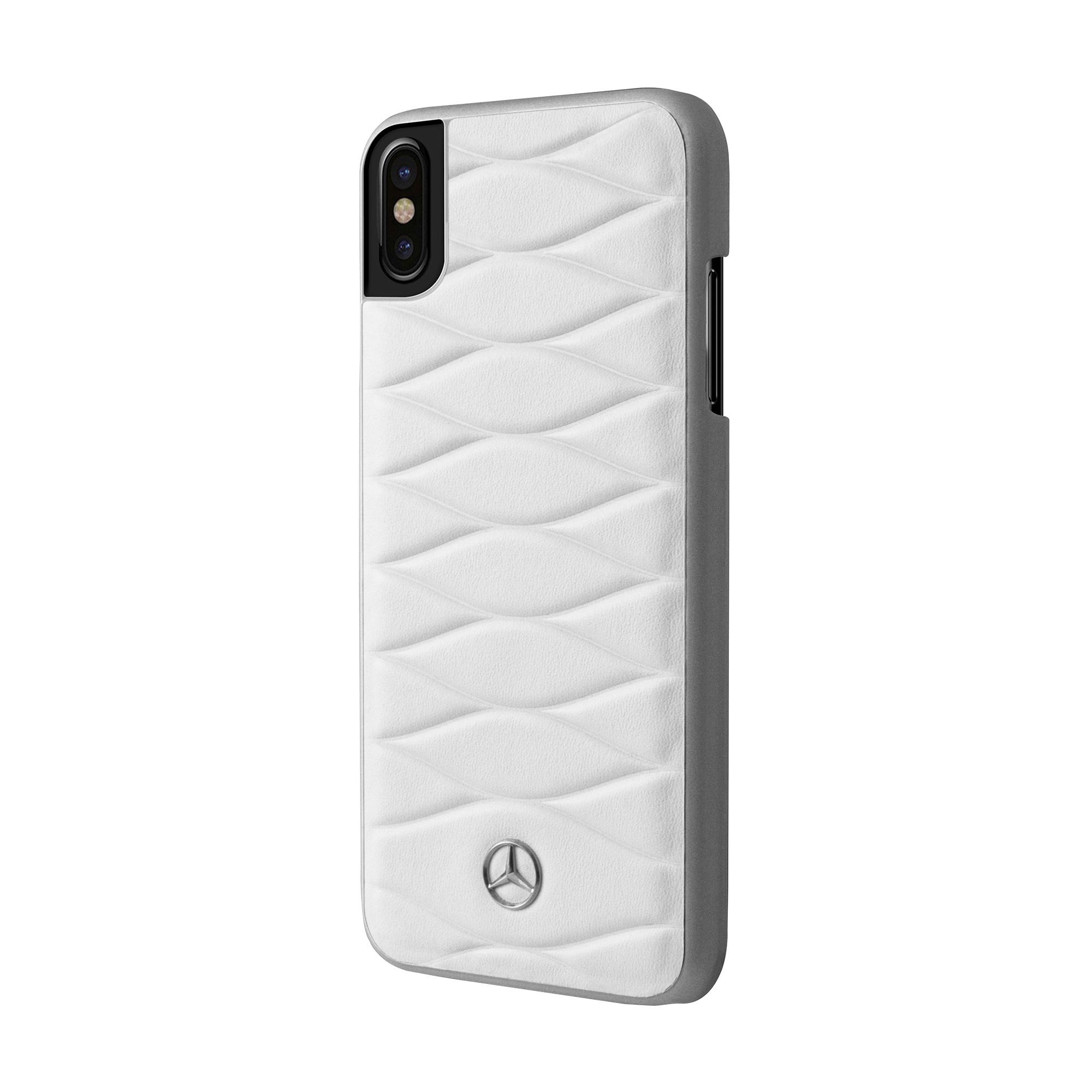 big sale c2a8b 12422 Mercedes Benz Genuine Leather iPhone Hard Case - 5.8 Inch Screen ...