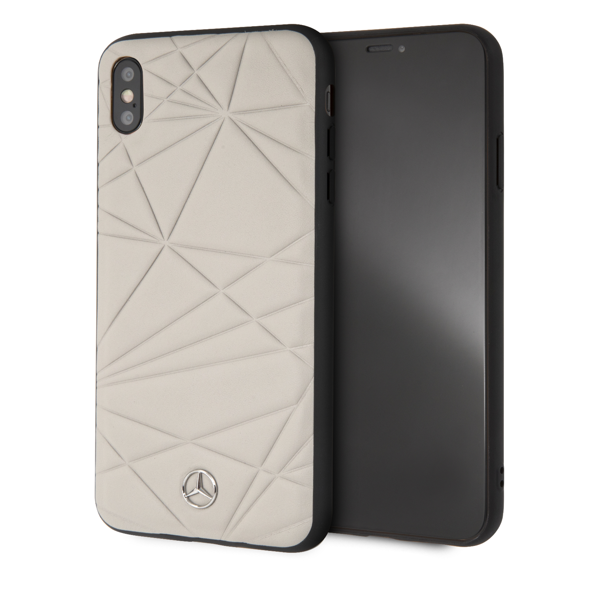 premium selection 26c4c 74477 Mercedes Benz Genuine Leather Hard Case for iPhone XS Max (Twister ...