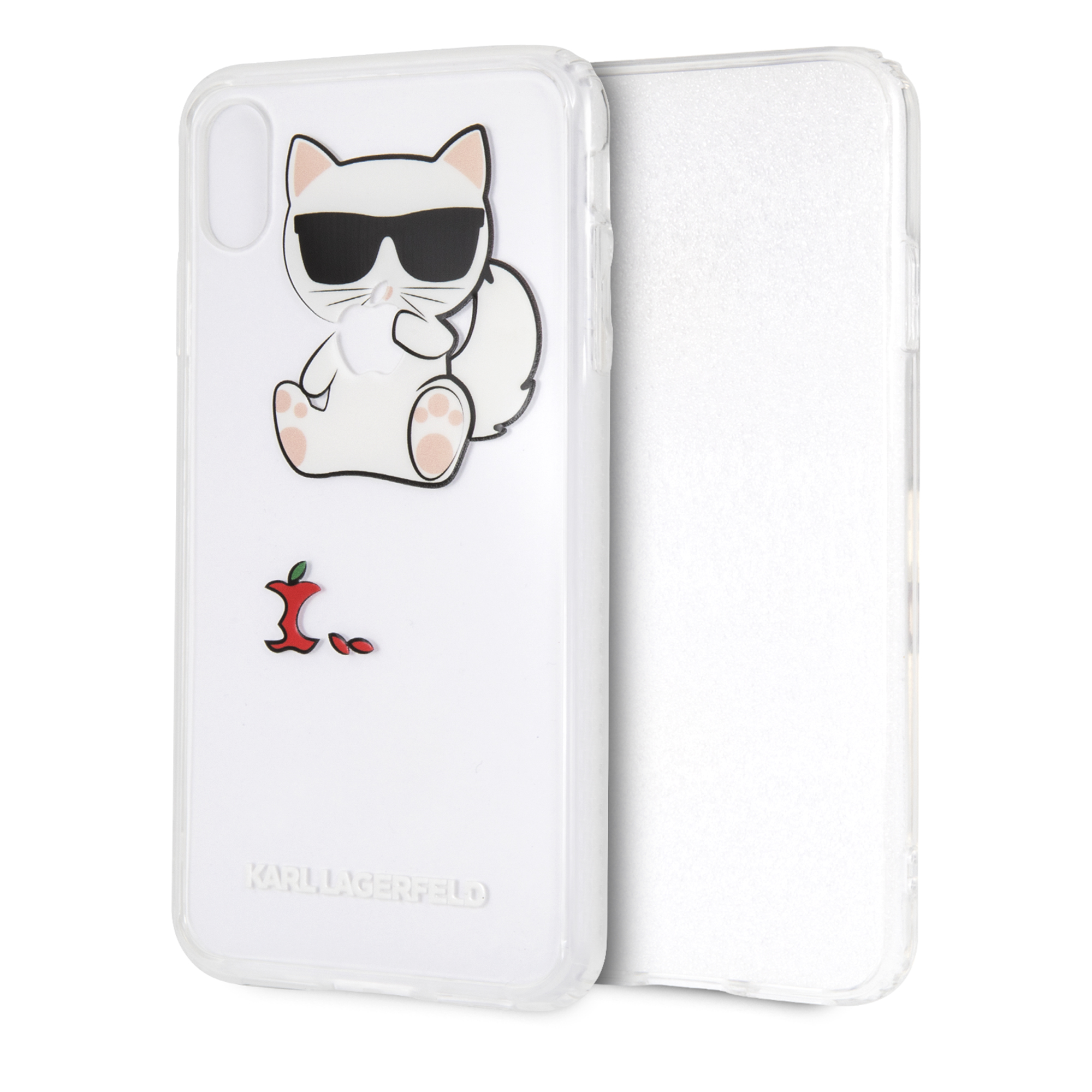 new product 98ddf 16dfe Choupette Fun Eaten Apple Case for iPhone XS Max