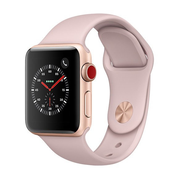 SmarTone Online Store Apple Watch Series 3 (38mm)(GPS + Cellular) Gold Aluminum Case with Pink Sand Sport Band
