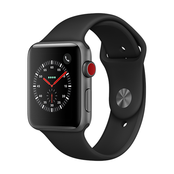 SmarTone Online Store Apple Watch Series 3 (42mm)(GPS + Cellular) Space Gray Aluminum Case with Black Sport Band