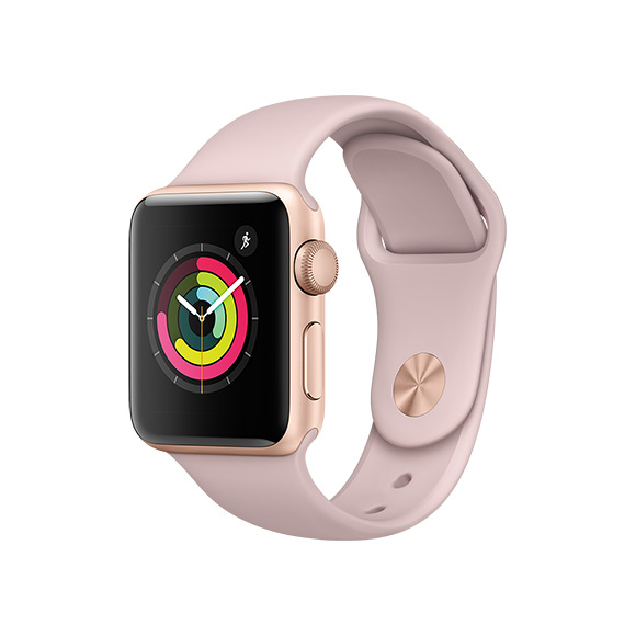 SmarTone Online Store Apple Watch Series 3 (38mm)Gold Aluminum Case with Pink Sand Sport Band