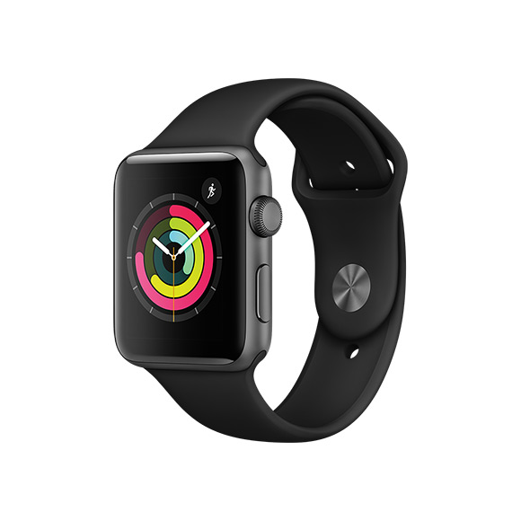 SmarTone Online Store Apple Watch Series 3 (42mm)Space Gray Aluminum Case with Black Sport Band