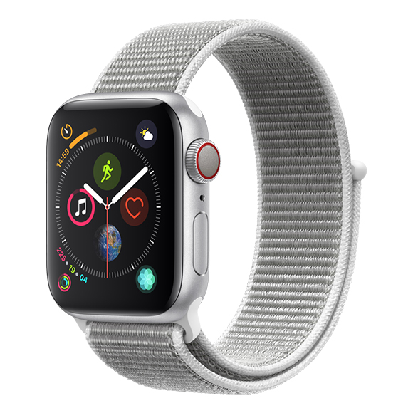 SmarTone Online Store Apple Watch Series 4 (40mm)(GPS + Cellular) Silver Aluminum Case with Seashell Sport Loop