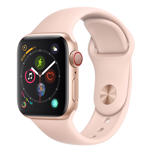 SmarTone Online Store Apple Watch Series 4 (40mm)(GPS + Cellular) Gold Aluminum Case with Pink Sand Sport Band