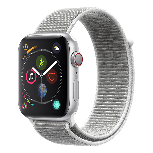 SmarTone Online Store Apple Watch Series 4 (44mm)(GPS + Cellular) Silver Aluminum Case with Seashell Sport Loop