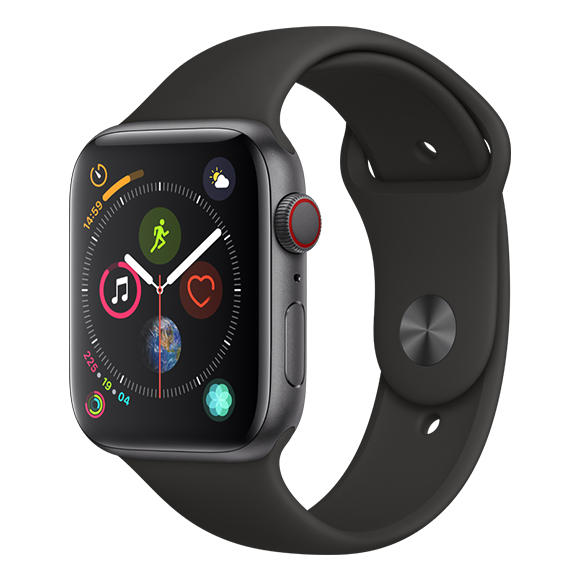 SmarTone Online Store Apple Watch Series 4 (44mm)(GPS + Cellular) Space Gray Aluminum Case with Black Sport Band