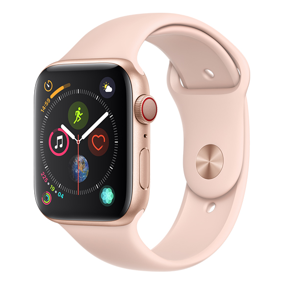 SmarTone Online Store Apple Watch Series 4 (44mm)(GPS + Cellular) Gold Aluminum Case with Pink Sand Sport Band
