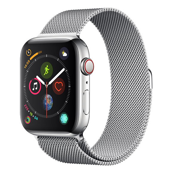 SmarTone Online Store Apple Watch Series 4 (44mm)(GPS + Cellular) Stainless Steel Case with Milanese Loop