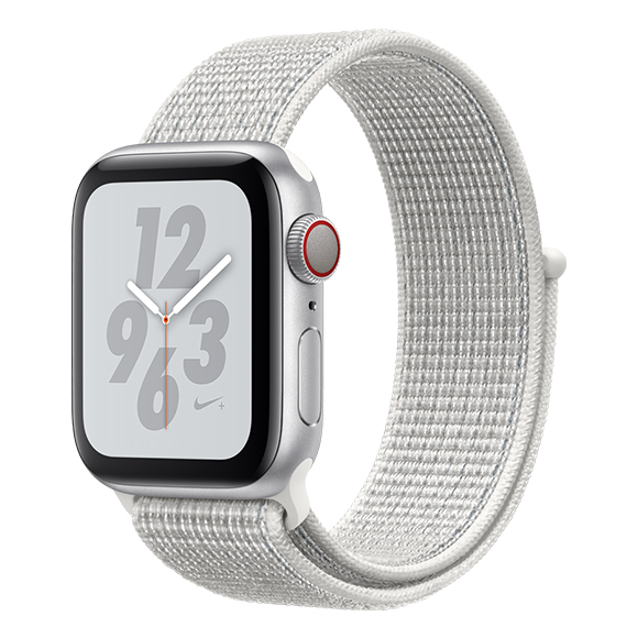 SmarTone Online Store Apple Watch Series 4 (40mm)(GPS + Cellular) Nike+ Silver Aluminum Case with Summit White Nike Sport Loop