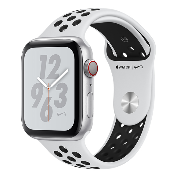 SmarTone Online Store Apple Watch Series 4 (44mm)(GPS + Cellular) Nike+ Silver Aluminum Case with Pure Platinum/Black Nike Sport Band