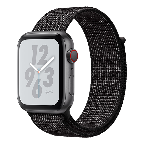 SmarTone Online Store Apple Watch Series 4 (44mm)(GPS + Cellular) Nike+ Space Gray Aluminum Case with Black Nike Sport Loop