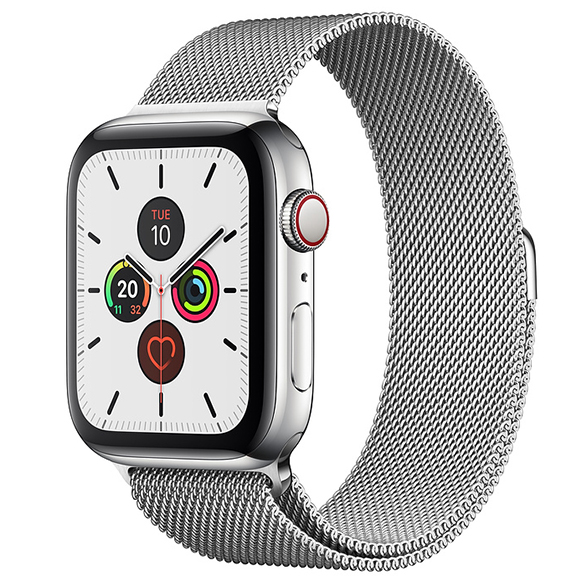 SmarTone Online Store Apple Watch Series 5 (GPS + Cellular) (44mm) Stainless Steel Case with Stainless Steel Milanese Loop