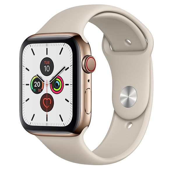SmarTone Online Store Apple Watch Series 5 (GPS + Cellular) (44mm) Gold Stainless Steel Case with Stone Sport Band