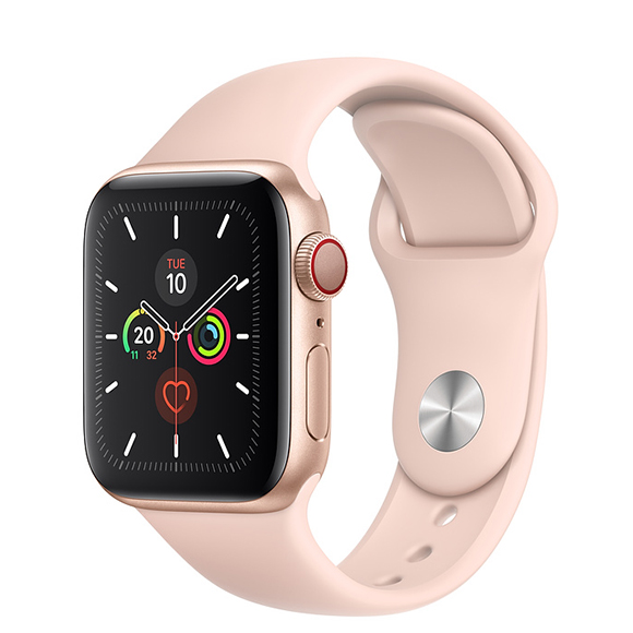 SmarTone Online Store Apple Watch Series 5 (GPS + Cellular) (40mm) Gold Aluminium Case with  Pink Sand Sport Band