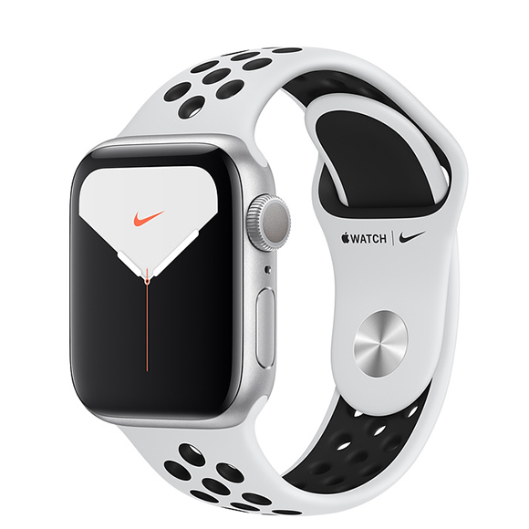 SmarTone Online Store Apple Watch Series 5 (GPS + Cellular) (40mm) Silver Aluminium Case with Pure Platinum/Black Nike Sport Band